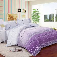 Teen Comforter Set Full Queen by 4pcs Twin Full Size White Purple Orchid Flowers White Purple