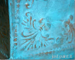 easy faux verdigris just paint it blog
