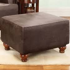 bedroom outstanding oversized ottoman slipcover create your home elegant brown velvet squared oversized ottoman slipcovers set with cozy sofa with natural brown wood legs