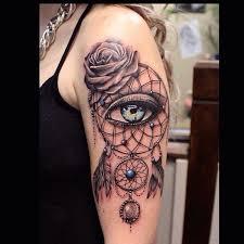 dreamcatcher tattoo upper arm dreamcatcher tattoos for a good night sleep
