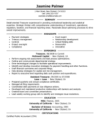 How To Email A Resume Sample by Best Treasurer Resume Example Livecareer
