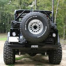 jeep body armor bumper rear bumper with tire carrier tj more