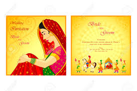 Indian Wedding Invitations Cards Vector Illustration Of Indian Wedding Invitation Card Royalty Free