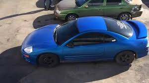 eclipse mitsubishi 2004 mitsubishi eclipse 3g plasti dip electric blue pearl youtube