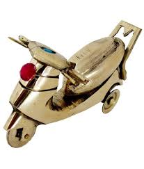 pindia fancy home decor small brass scooty show piece buy pindia