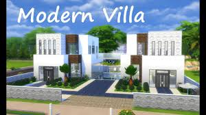 the sims 4 house building modern villa build mode youtube