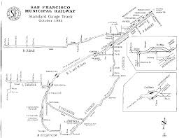 New Orleans Street Car Map by Track Map Of San Francisco Streetcar System As Of 1995 Transit