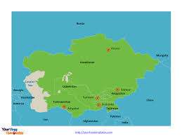 Map Of Central Asia Free Central Asia And Caucasus Editable Map Free Powerpoint