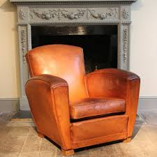Leather Club Chair Chair 1940s French Original Leather Club Chair Jean Marc Fray