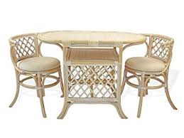 amazon com borneo compact dining set table with wicker top 2