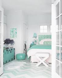 60 colorful bedrooms that will make you wake up happier green aqua green bedroom decor interiors midesigner chevron