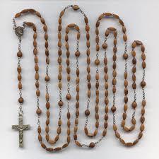 15 decade rosary earthy vintage 15 decade coco bead catholic rosary lord