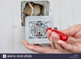 replacing electric wall light switch connection to the electrical