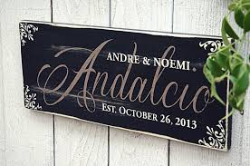 rustic family name sign personalized with last name family