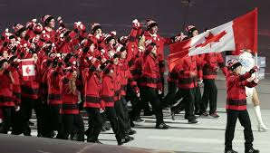 Canada Flag Bearer Sochi Opening Ceremony Parade Of Nations Under Way U2013 Olympictalk