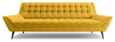 Mid Century Couch Mid Century Orange Fabric Armless Sectional - Mid century sofas