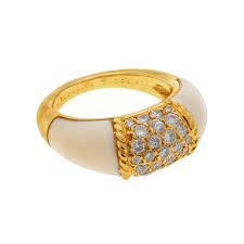 ivory ring philippine ring by vca in ivory diamond gold morelle davidson