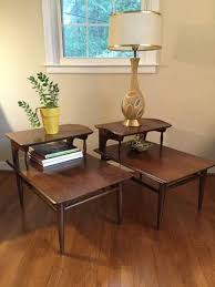 vintage mid century modern coffee table mid century modern side tables bassett artisan epoch