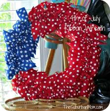 4th of july wreaths how to make a diy 4th of july ribbon wreath thesuburbanmom