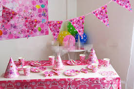 baby girl birthday ideas 2015 pink crown luxury kids party packs baby happy birthday party