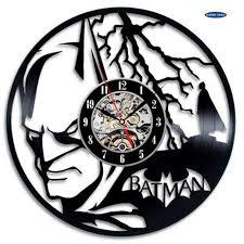 t駘騅ision pour chambre horloge murale saat thème creative horloge murale disque