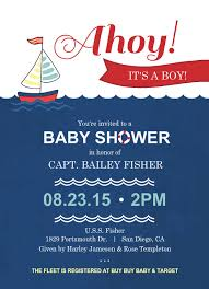 nautical baby shower invitations templates nautical ba shower