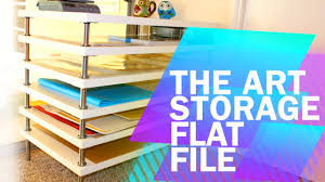 flat file cabinet ikea tips tricks 1 diy art storage flat file with ikea youtube