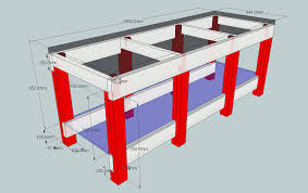 diy heavy duty workbench plans kristine baker blog
