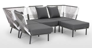 Black Corner Sofas Sofas Center Us Stock Piece Complete Outdoorindoor Rattan Wicker
