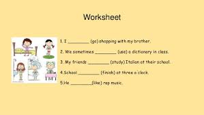 simple present tense worksheets for 2nd grade 28 templates 17