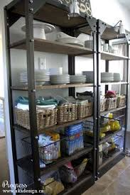 Open Metal Shelving Kitchen by Extra Organizing When Your Pantry Is Too Small Home Pinterest