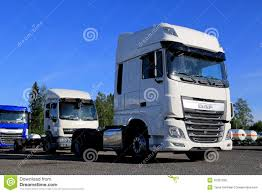 paccar trucks daf xf euro 6 truck on a yard editorial stock photo image 42321208