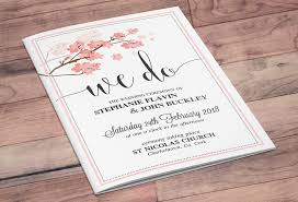 wedding ceremony booklet floral mass booklet now and forever
