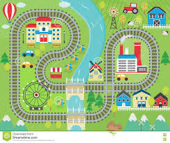 marvelous fun welcome mat 5 train track play placemat lovely