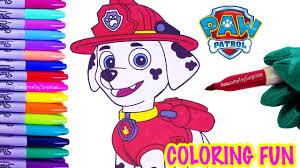 nickelodeon paw patrol marshall coloring page fun coloring
