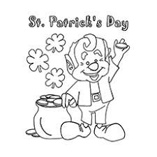 leprechaun coloring pages printable free top 25 free printable st patrick s day coloring pages online