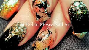 no water needed bling nails diy gold and black drag marble nail