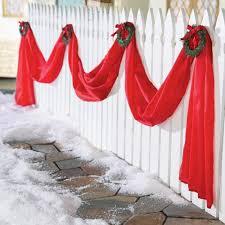 giant outdoor christmas ribbon triple swag yard decor w wreaths