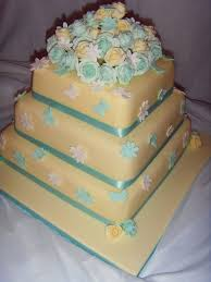 3 Tier Wedding Cake Duck Egg Blue U0026 Cream Roses 3 Tier Wedding Cake Cake By