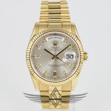 rolex white gold oyster bracelet images Rolex day date 36mm yellow gold case president bracelet silver jpg