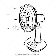 physics how does a fan makes the flow of wind in one direction