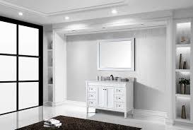 virtu es 40048 wmsq wh tiffany single bathroom vanity cabinet set