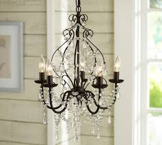 Iron Chandelier With Crystals Paige Crystal Chandelier Pottery Barn