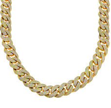 mens link necklace gold images Men 39 s diamond cuban link chain yellow gold jpg