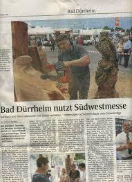 Reutter Bad Presse Kettensägenkunst Holzskulpturen