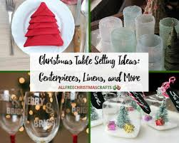 40 christmas table setting ideas centerpieces linens and more