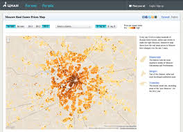 Real Estate Map Moscow Real Estate Prices Map U2014 Information Is Beautiful Awards