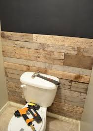 diy tutorial pallet bathroom wall pallet bathroom walls pallet
