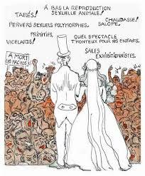 dessin humoristique mariage droit au mariage pour tous bar zing