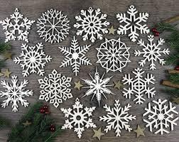 snowflake ornaments etsy